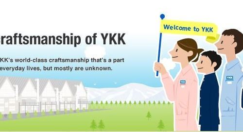 "YKK Introduces ""The Craftsmanship of YKK,"" a webpage designed to educate children about YKK's zipper making technology"
