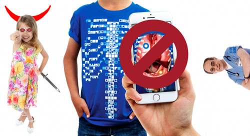 Under no circumstances should you give this AR-enabled T-shirt to children