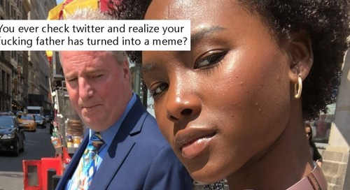 Daughter has best reaction when her dad becomes a Twitter meme