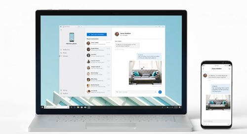 Microsoft's new app beams texts and photos from your phone to your Windows desktop