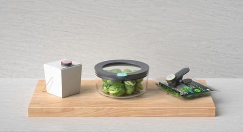 Ovie's Smarterware is like Tupperware that tracks when your food will go bad