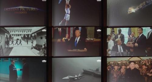 Donald Trump showed Kim Jong Un a fake movie trailer for their bromance