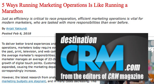 5 Ways Running Marketing Operations Is Like Running a Marathon [Destination CRM]