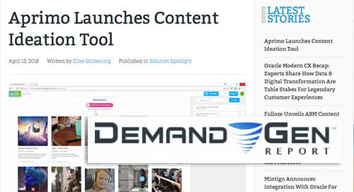 Aprimo Launches Content Ideation Tool [Demand Gen Report]