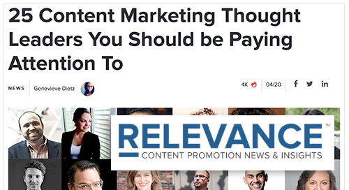 25 Content Marketing Thought Leaders You Should be Paying Attention To [Relevance]