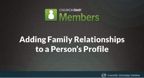 Adding Family Relationships to a Person's Profile
