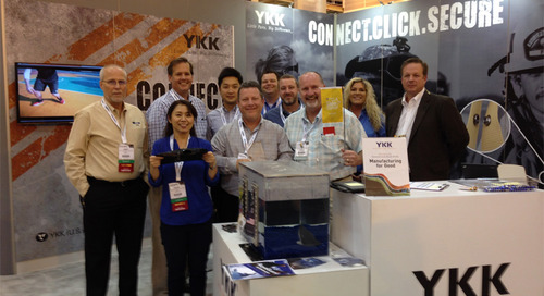 "YKK (U.S.A.) Inc. receives another ""Best of the Best"" new and innovative products award at the IFAI Expo in New Orleans"