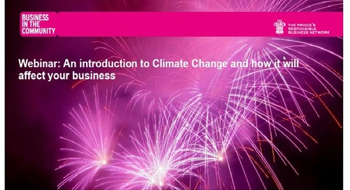 Webinar: An introduction to Climate Change and how it affects business