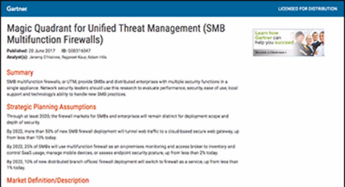 Magic Quadrant for Unified Threat Management (SMB Multifunction Firewalls)