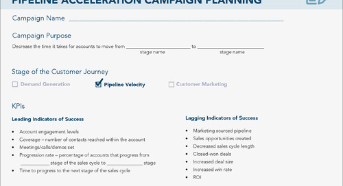 [Worksheet] ABM Strategy #4: Pipeline Acceleration