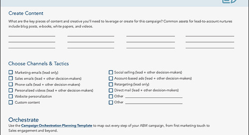 [Worksheet] ABM Strategy #3: Lead-to-Account Nurture