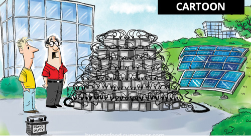 CARTOON: Well, that's one way of installing battery storage for solar power