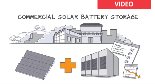 Learn about battery storage for commercial solar power