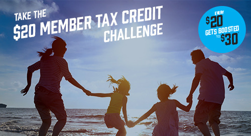 Don't miss out on next year's member tax credit – start saving now