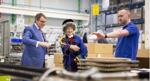 HRH Princess Alexandra visits Holophane Europe Ltd