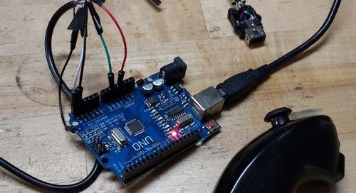 I²C for Arduino joystick control