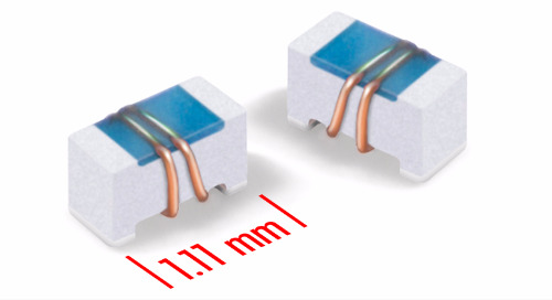 0402-sized ceramic chip inductors provide Q factors up to 162 at 2.4 GHz