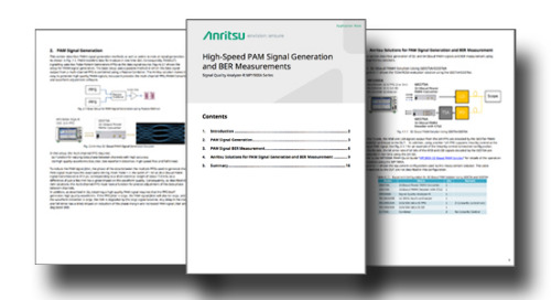 High-Speed PAM Signal Generation and BER Measurements