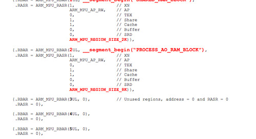 Using a memory protection unit with an RTOS, part 4