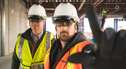 Mixed Reality In Construction Gets Real with Trimble's HoloLens Hard Hat [VIDEO]
