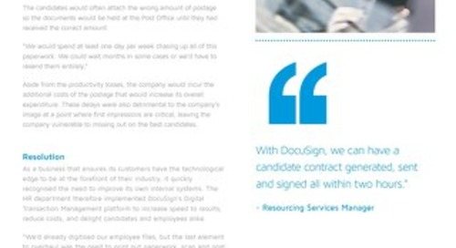 Leading Financial Institution Reduces Time to Signature from 2 Weeks to 2 Hours