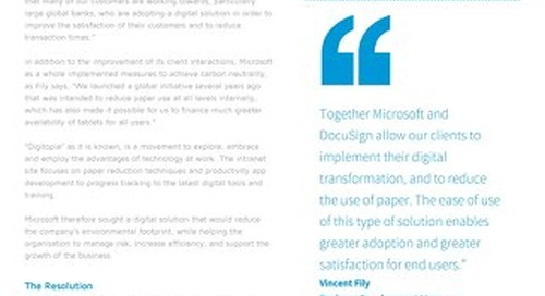 "Microsoft Achieves ""Digitopia"" with DocuSign"