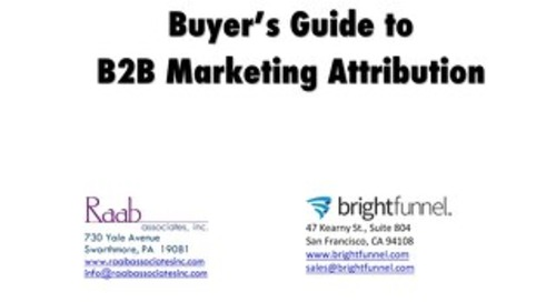 Buyer's Guide to B2B Marketing Attribution