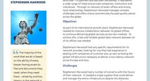 Stephenson Harwood Case Study