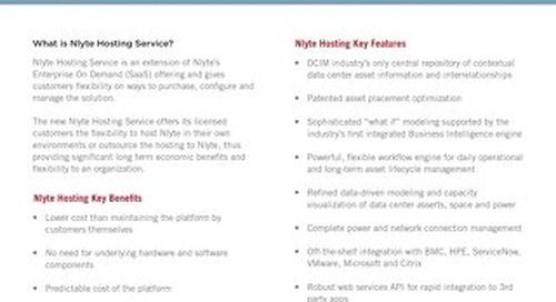Nlyte Hosting Data Sheet