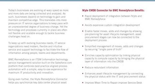 Nlyte CMDB Connector For BMC Remedyforce Data Sheet