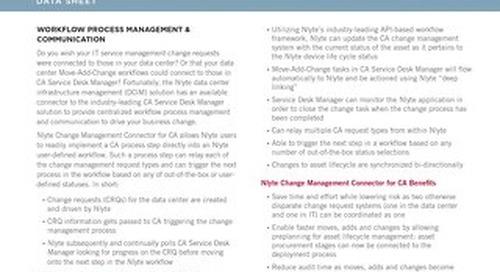 Nlyte Change Management Connector CA Data Sheet