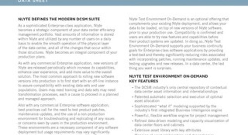 Nlyte Test Environment On -Demand Data Sheet
