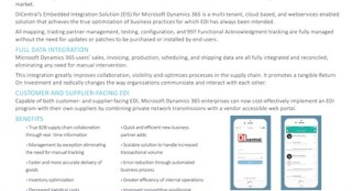 EDI Webservices for Dynamics 365