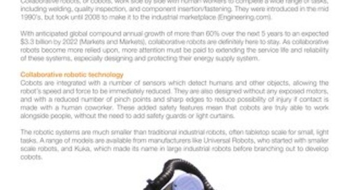 Energy Supply for Collaborative Robots