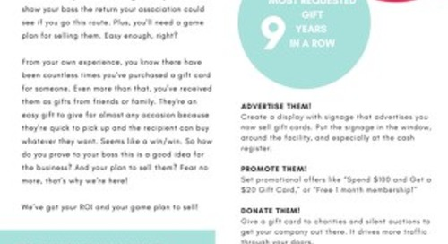 Why Gift Cards Are a Good Idea & How to Sell Them