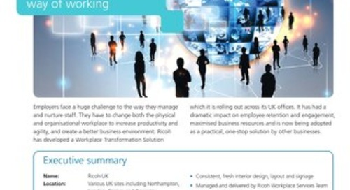 Case Study - Ricoh - Workplace Transformation by Ricoh