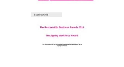 The Ageing Workforce Scoring grid 2018