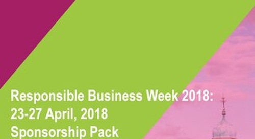 Responsible Business Week sponsorship pack 2018