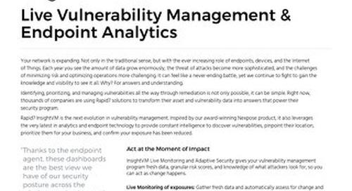 Live Vulnerability Management & Endpoint Analytics
