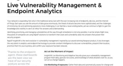 Live Vulnerability Management & Endpoint Analytics