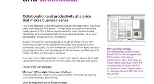 Power PDF Advanced Datasheet