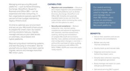 Microsoft Platform Management Datasheet