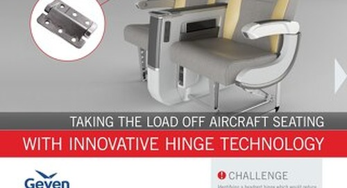 Geven & Southco: Taking the Load Off Aircraft Seating with Innovative Hinge Technology