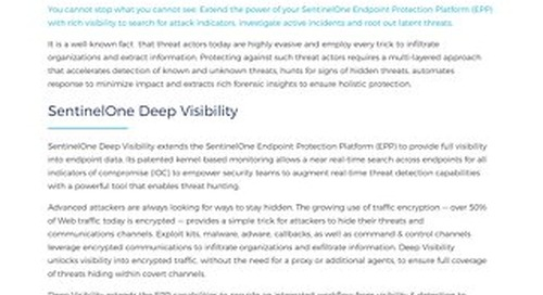 SentinelOne Endpoint Protection: Deep Visibility