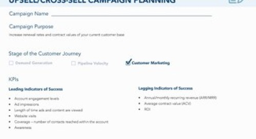 [Worksheet] Upsell & Cross-Sell with ABM
