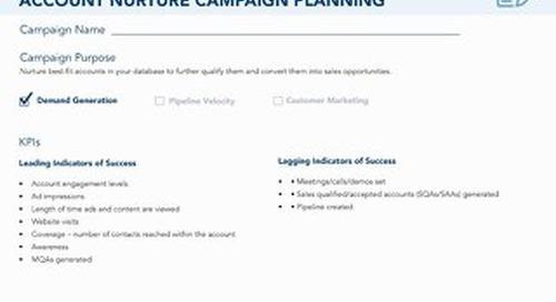 [Worksheet] Account Nurture ABM Campaign