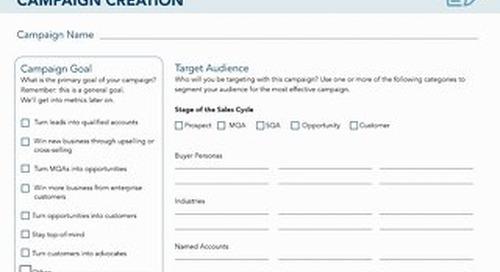 [Worksheet] ABM Campaign Planning