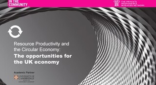 Resource Productivity and the Circular Economy: The opportunities for the UK economy
