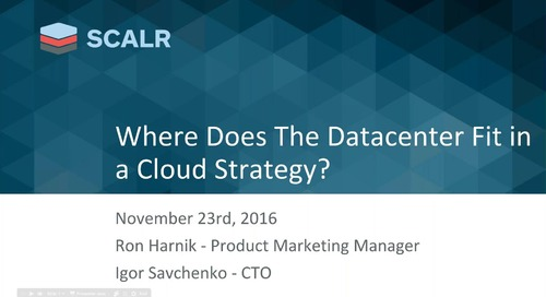 VMware & Scalr - How Datacenters Fit In Your Cloud Strategy