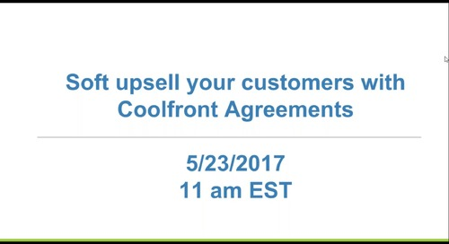 Soft Upsell to Customers with Agreements - Webinar